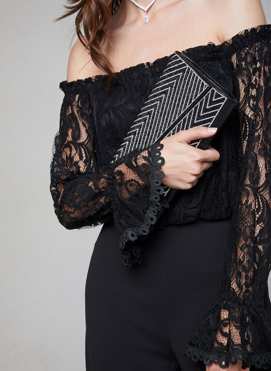 Adrianna Papell - Lace Jumpsuit, Black, hi-res