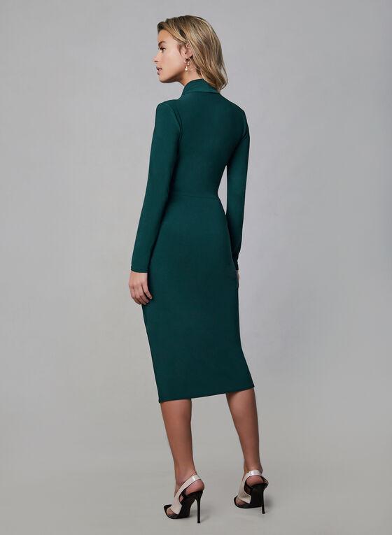 Joseph Ribkoff -  Long Sleeve Wrap Dress, Green