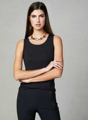 Sleeveless Jersey Top, Black, hi-res,
