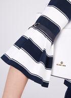Veste rayée à manches cloche plissées, Bleu, hi-res