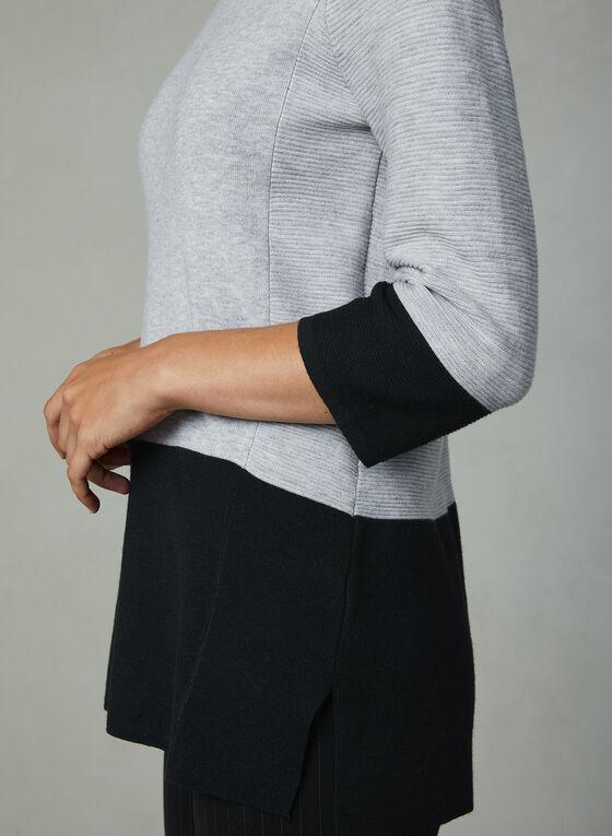 Elena Wang - Colour Block Knit Top, Silver