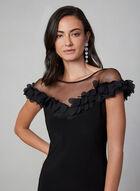 Joseph Ribkoff - Mesh Detail Scuba Dress, Black