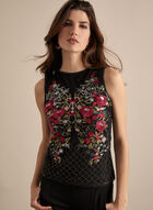 Frank Lyman - Embroidered & Sequin Top , Black