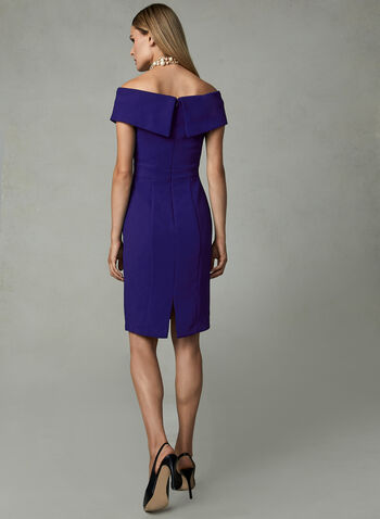 BA Nites - Off The Shoulder Dress , Blue, hi-res