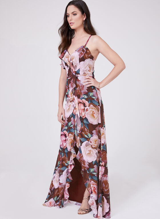Cachet - Floral Print High-Low Dress, Multi, hi-res