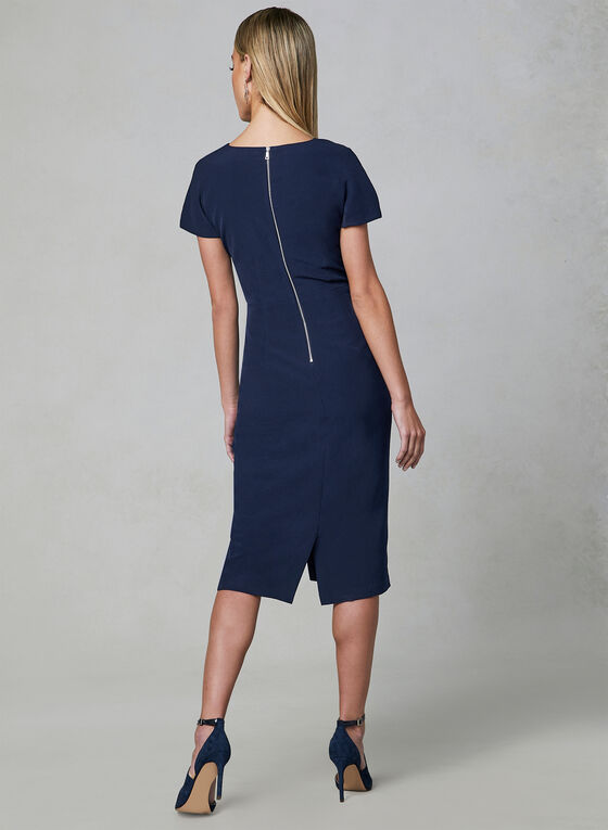 Maggy London - Scalloped Sheath Dress, Blue