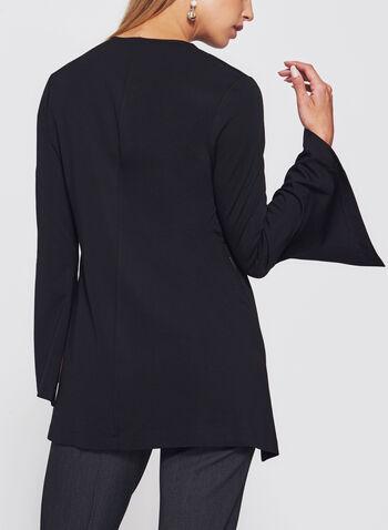 Ponte Bell Sleeve Top, Black, hi-res
