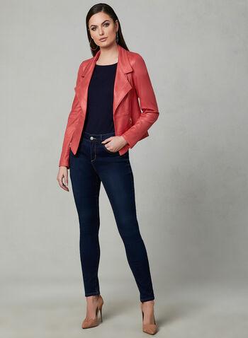 Vex - Blazer en faux daim et détails zippés, Orange, hi-res,
