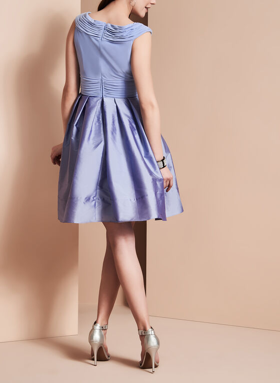Adrianna Papell - Taffeta Dress, Purple, hi-res