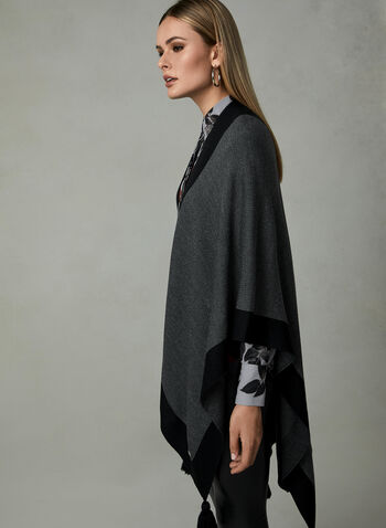 Ralph Lauren - Wrap Knit Poncho, Grey, hi-res