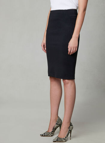 Madison Pencil Skirt, Black, hi-res