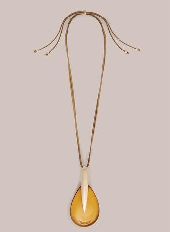 Collier à pendentif goutte translucide, Or,  automne hiver 2020, bijou, accessoire, collier, pendentif