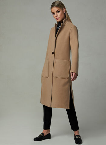 Faux Wool Transition Coat, Brown, hi-res