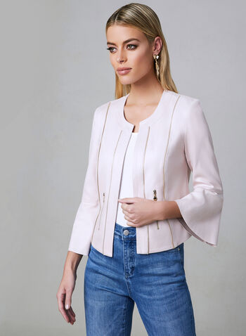 Vex - Bell Sleeve Jacket, Off White, hi-res,  jacket, faux leather, bell sleeves, spring 2019