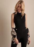 Sleeveless Ribbed Knit Top, Black