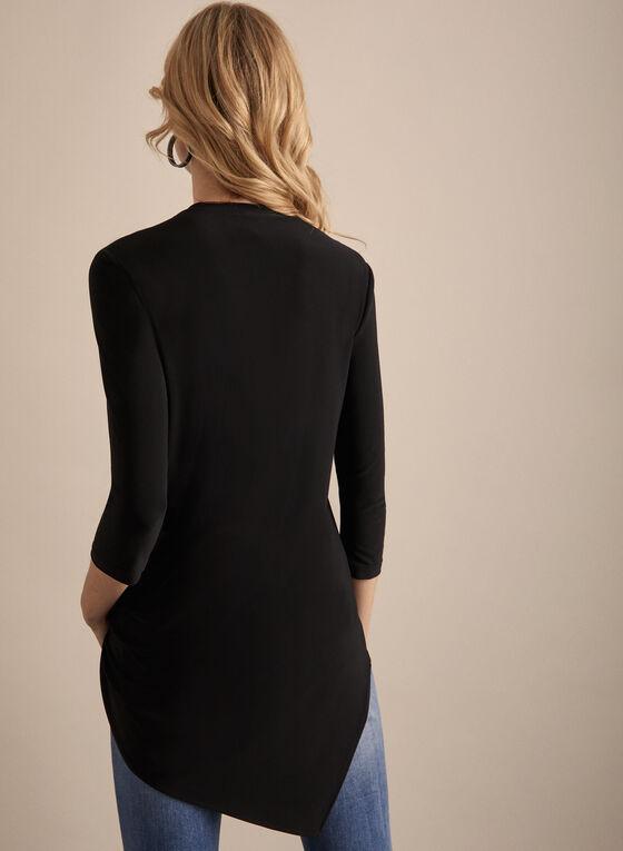 Joseph Ribkoff - Asymmetrical V-Neck Tunic, Black