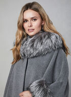 Mallia - Hooded Wool Cape, Grey