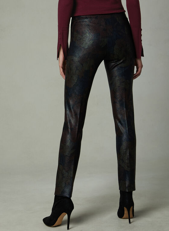 Insight - Pantalon pull-on effet peau de serpent, Noir, hi-res