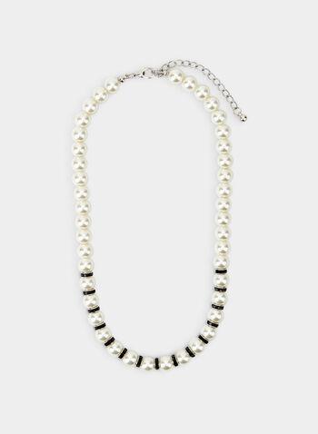 Collier court en perles, Noir,  collier, court, perles, rondelles, automne hiver 2019