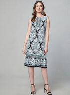 Sandra Darren - Mosaic Print Dress, Black, hi-res