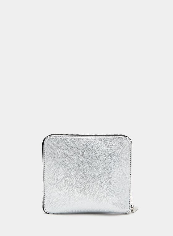 Joseph Ribkoff - Logo Print Tote, Silver, hi-res