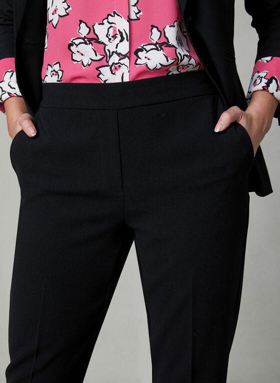 Pantalon Rachel pull-on en crêpe, Noir, hi-res