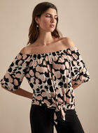 Joseph Ribkoff - Dot Print Top, White