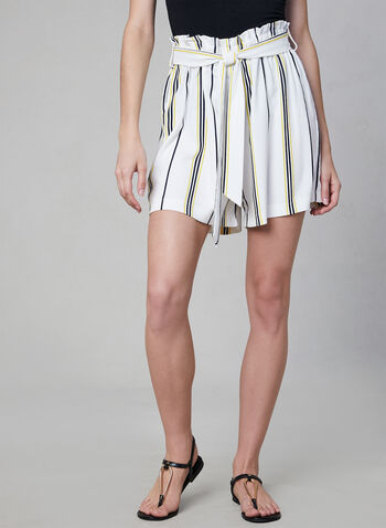 Chapter One - Stripe Print Shorts, White, hi-res