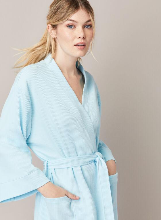 Peignoir à manches kimono, Bleu