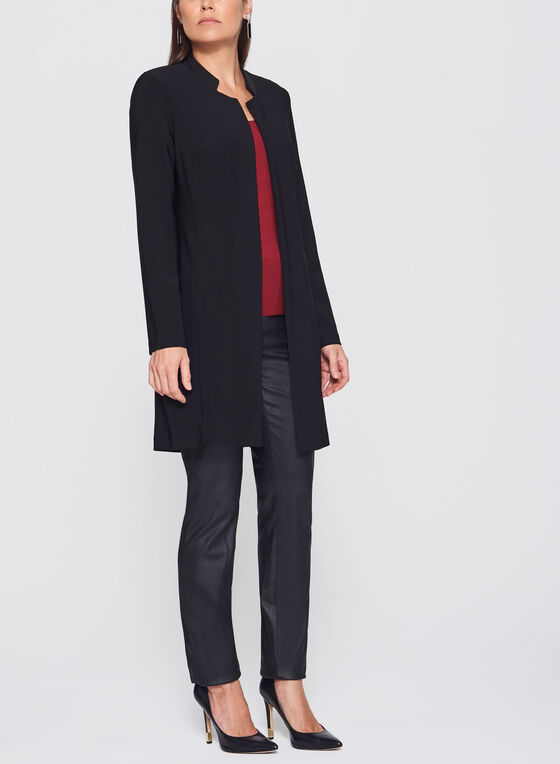 Frank Lyman - Inverted Notch Collar Jacket, Black, hi-res