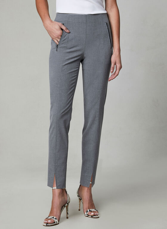 Amber Fit Slim Leg Pants, Grey