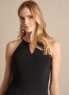 Jersey & Chiffon Jumpsuit, Black