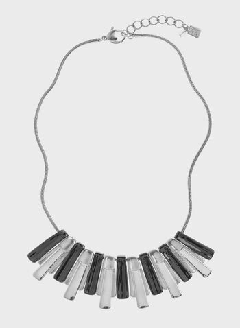 Robert Lee Morris - Two Tone Bar Bib Necklace, Grey, hi-res