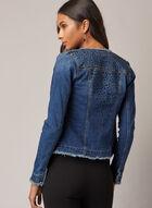 Rhinestone Detail Denim Jacket, Blue