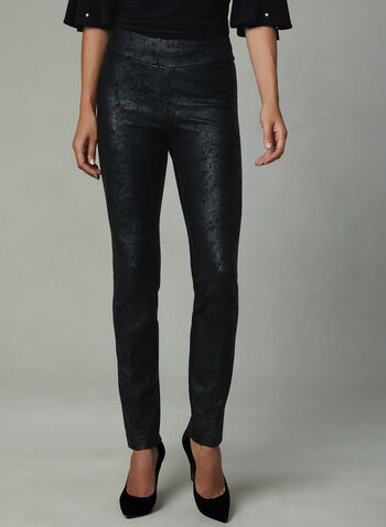Insight - Distressed Straight Leg Pants, Black, hi-res