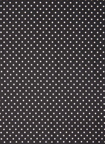 Polka Dot Print Lightweight Scarf, Black,  scarf, lightweight, polka dot, chain, chiffon, fall winter 2020