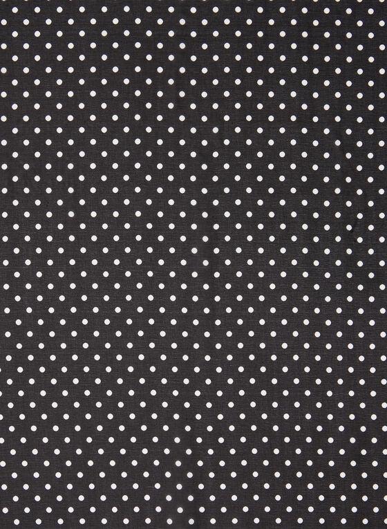 Foulard léger motif pois et chaîne, Noir