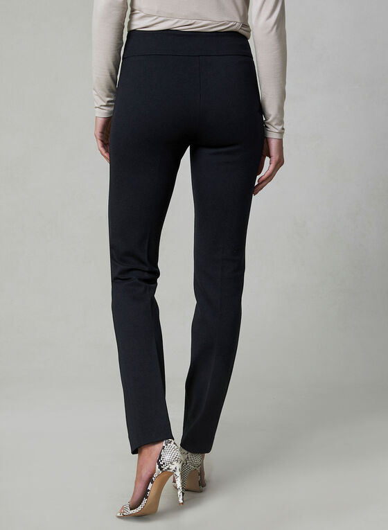 Madison Ponte de Roma Pants, Black