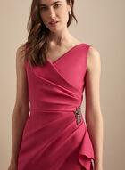 Alex Evenings - Robe drapée à billes brodées, Rose