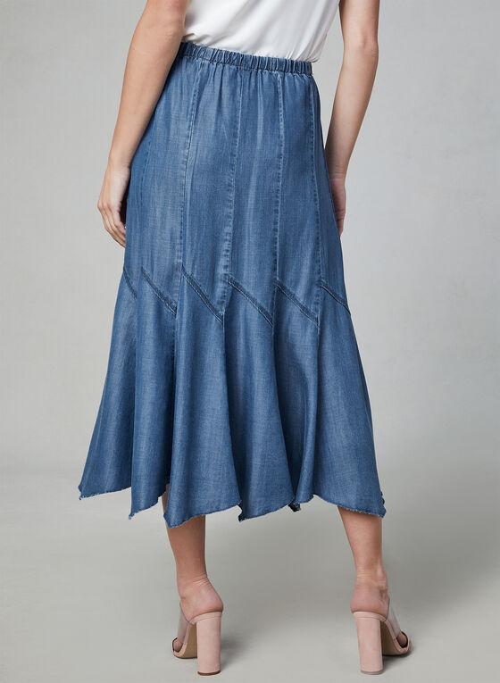 Linea Domani - Jupe maxi à godets, Bleu, hi-res
