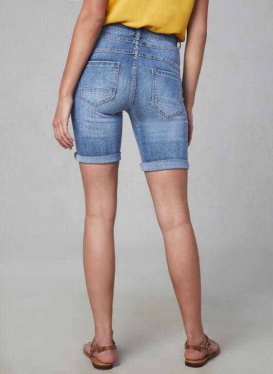 Frank Lyman – Crystal Detail Denim Shorts, Blue, hi-res