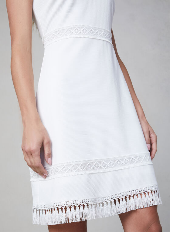 Kensie - Sleeveless Ottoman Dress, White
