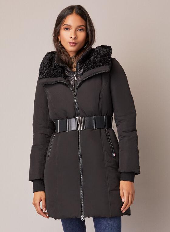 Sicily - Stand Collar Belted Coat, Black