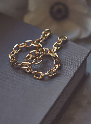 Chain Circle Earrings, Gold,  jewellery, accessories, earrings, chain, link, circle, dangle, spring summer 2021