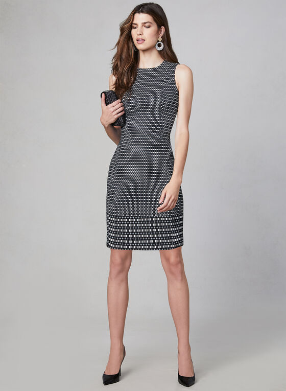 Kensie - Jacquard Sheath Dress, Black