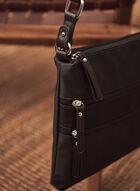 Sac bandoulière à poches zippées, Noir