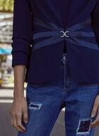 Rhinestone & Satin Detail Jacket, Blue