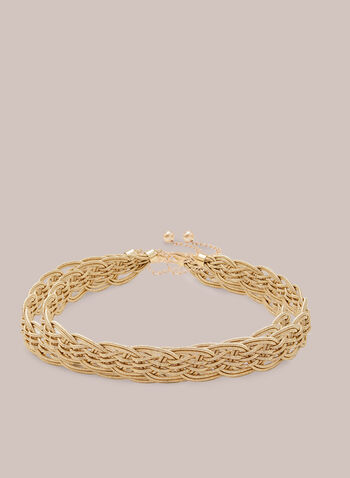 Braided Waist Belt, Gold,  belt, braided, chain, clasp, bead, metallic, gold, fall winter 2020