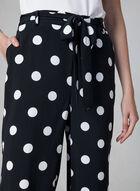 Jupe-culotte à pois surdimensionnés, Noir, hi-res