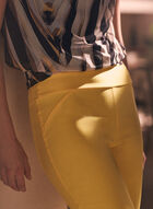 Slim Leg Pull-On Capris, Yellow
